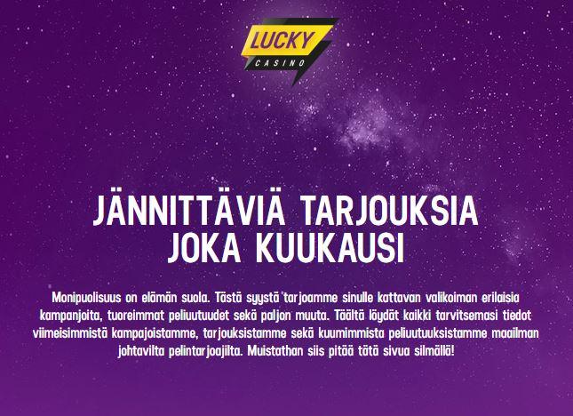 Lucky Casinon maaliskuu 2020